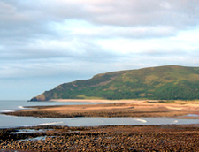 View from Porlock Weir across to North Hill, Minehead